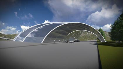 #6 for Hangar Building Concept Design by niospe86