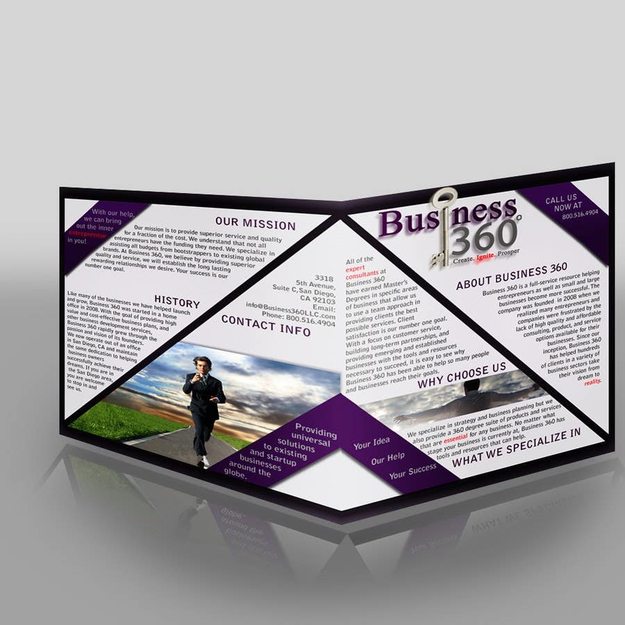 #31 for Brochure Design for Business 360 LLC by d1zzye