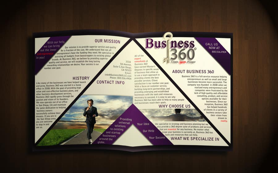 #50 for Brochure Design for Business 360 LLC by d1zzye