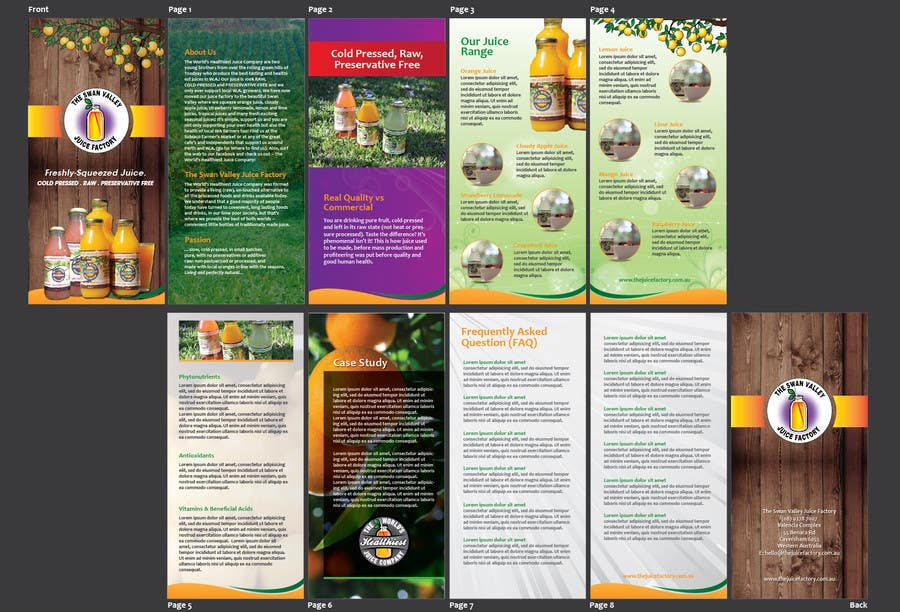 Konkurrenceindlæg #4 for Design a Brochure for Juice Company