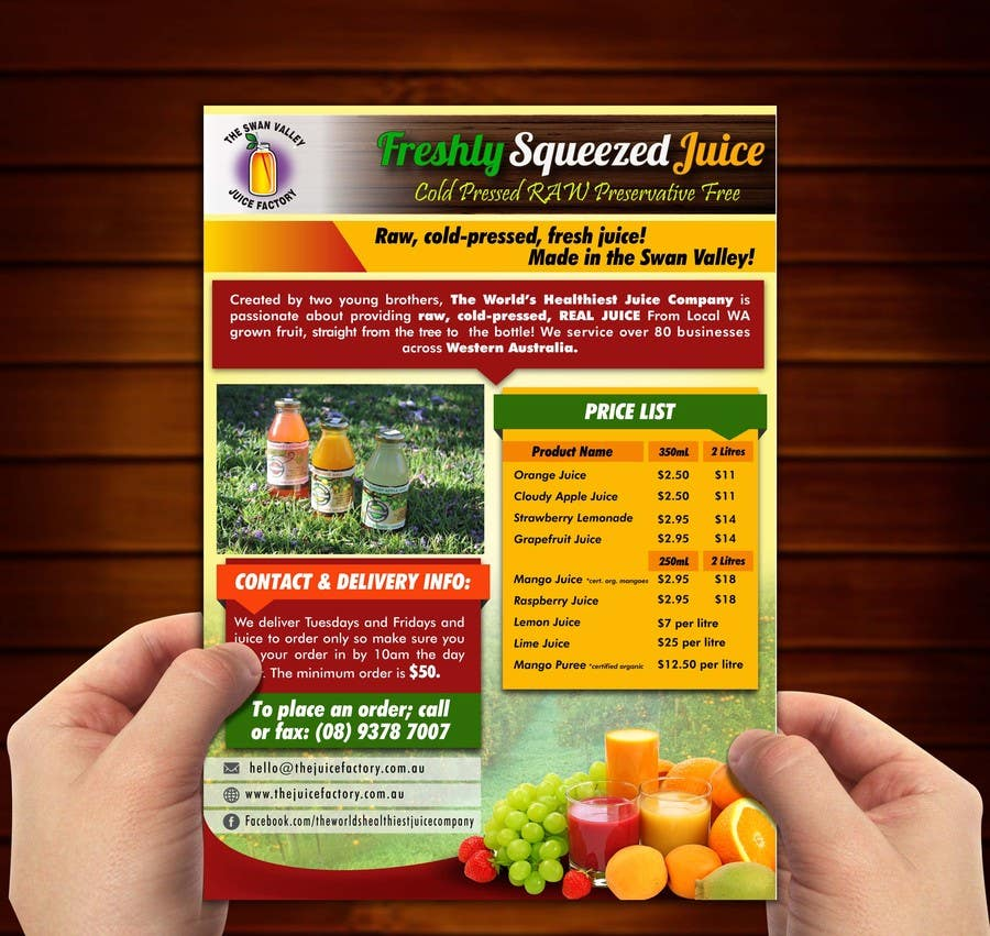 #19 for Design a Flyer for Juice Company by ushansam12