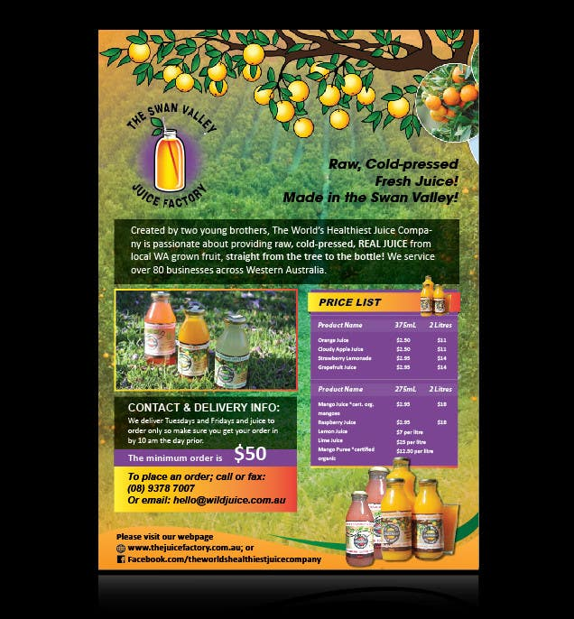#9 for Design a Flyer for Juice Company by AchiverDesigner