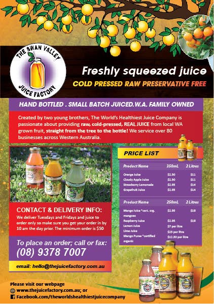 #17 for Design a Flyer for Juice Company by AchiverDesigner