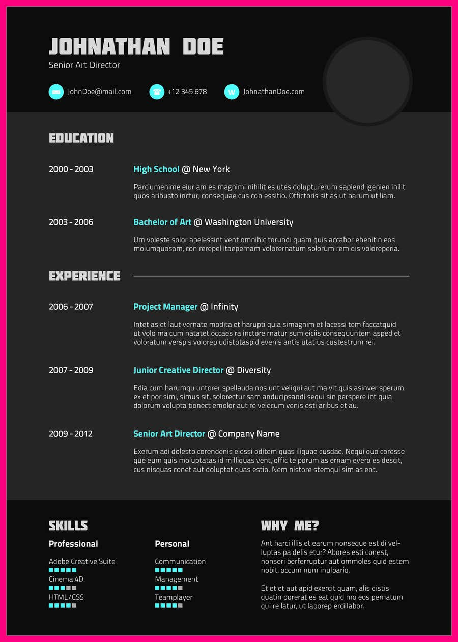 Konkurrenceindlæg #29 for Resume templates