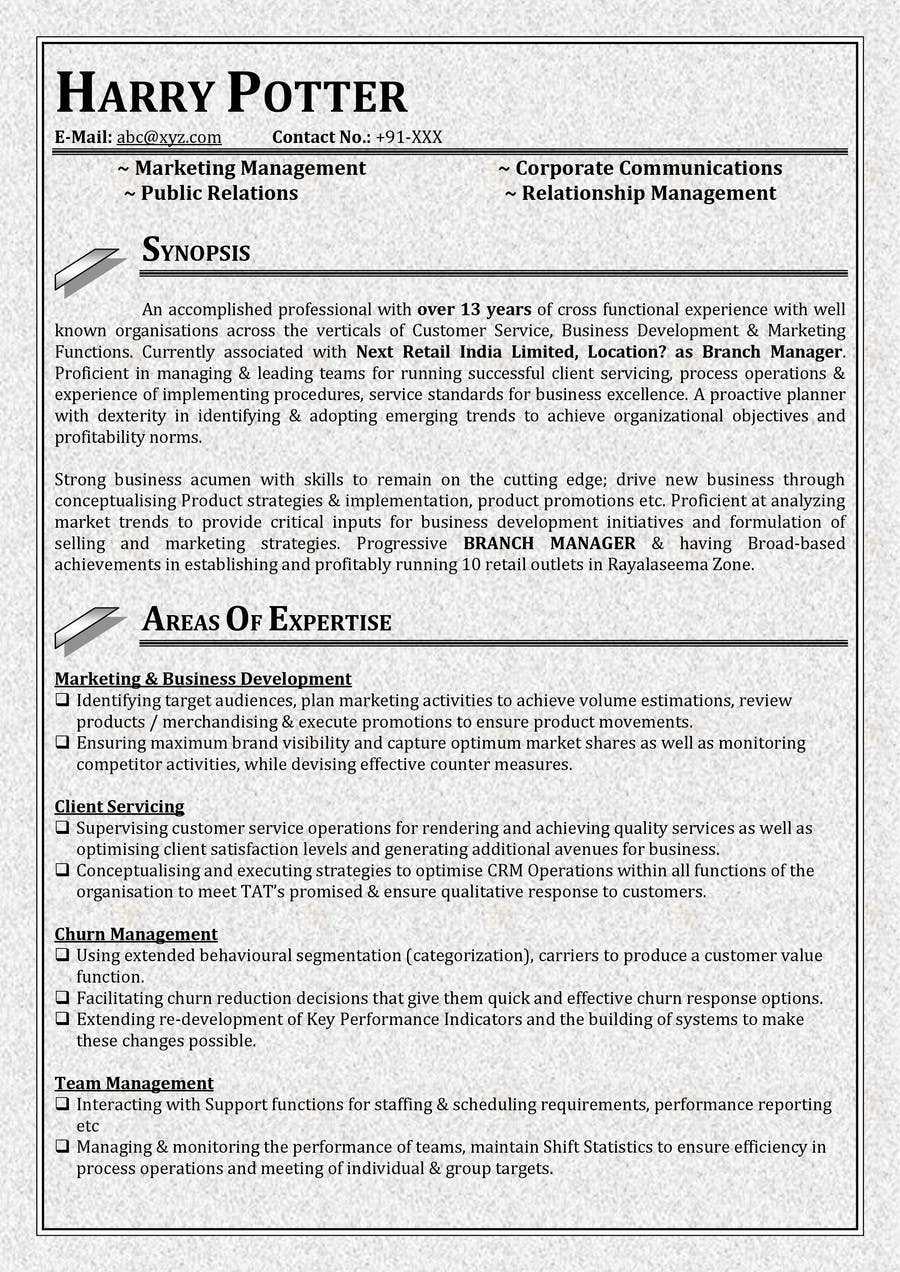Contest Entry #24 for Resume templates