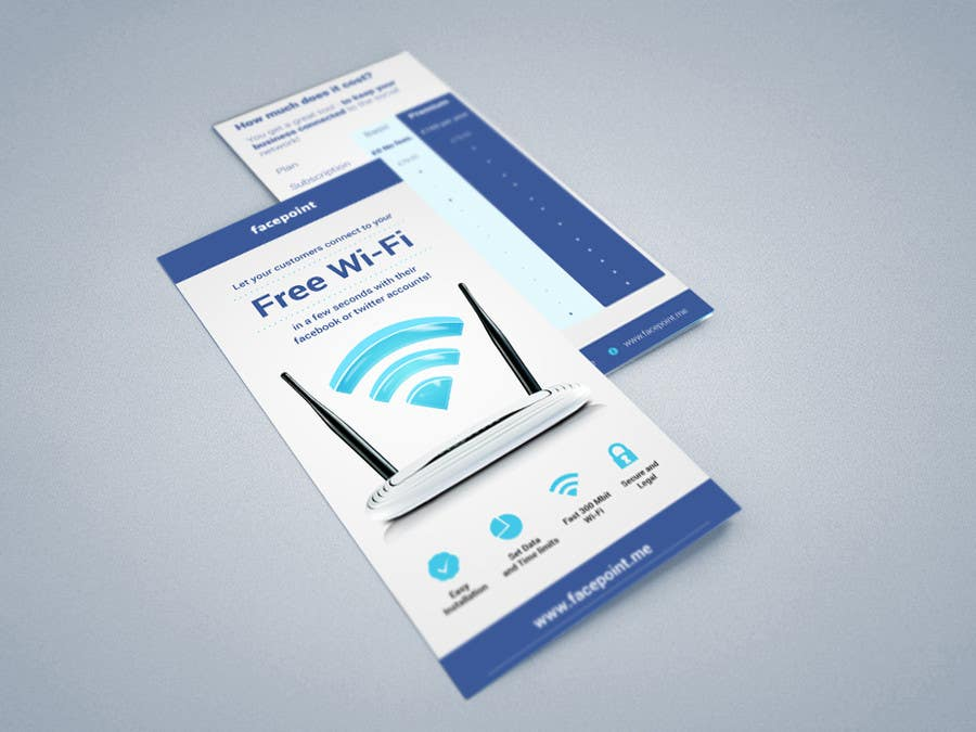 #20 for Design a Flyer for Facepoint Social Wi-Fi Router by aleksejspasibo