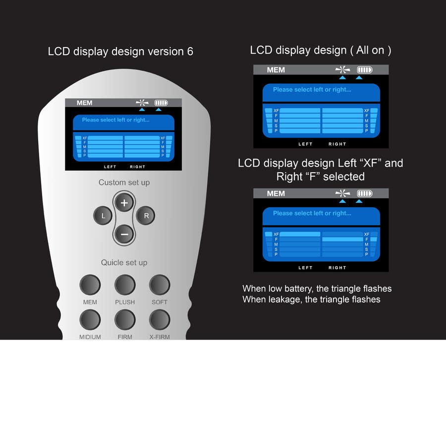 #22 for I need some Graphic Design to improve my current LCD display design for a remote control by davidliyung