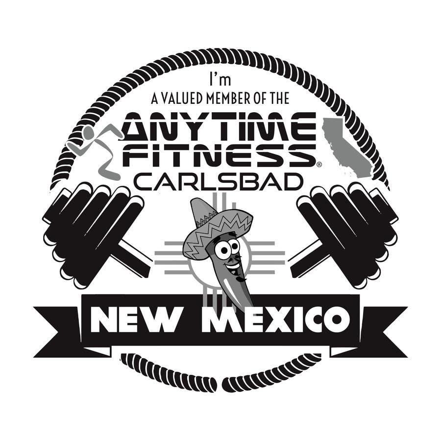 Kilpailutyö #93 kilpailussa Design a T-Shirt - ANYTIME FITNESS CARLSBAD, NM