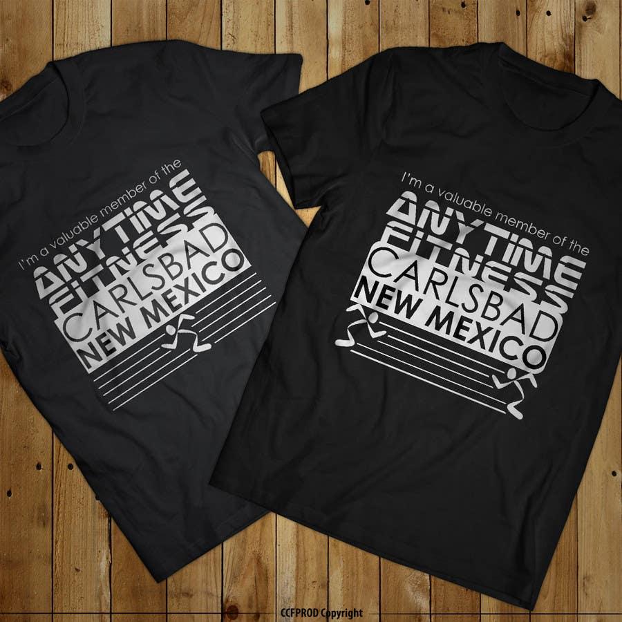 Kilpailutyö #90 kilpailussa Design a T-Shirt - ANYTIME FITNESS CARLSBAD, NM