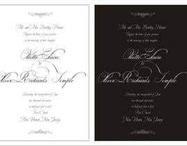 nº 13 pour ***VERY EASY** Design wedding invitations par saliyachaminda