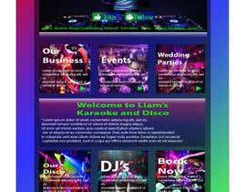 Nro 12 kilpailuun Bold-Dynamic-Creative Website Mockup Design For Karaoke Business That Pops For WordPress or PHP käyttäjältä MuhammadHammad64