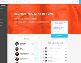 Nro 29 kilpailuun Bold-Dynamic-Creative Website Mockup Design For Karaoke Business That Pops For WordPress or PHP käyttäjältä krrish250