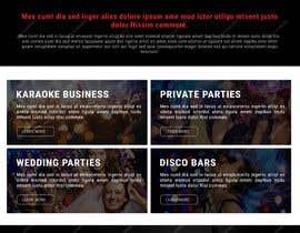 Nro 15 kilpailuun Bold-Dynamic-Creative Website Mockup Design For Karaoke Business That Pops For WordPress or PHP käyttäjältä viki001