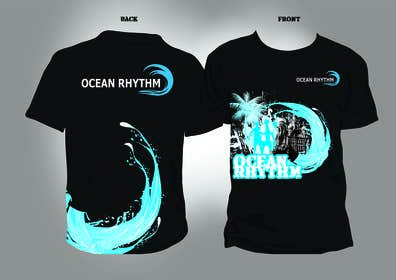 nº 3 pour Design a T-Shirt for OCEAN RHYTHM par GraphiqueStyle