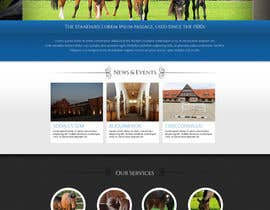 #45 for Design a Website Mockup for Horse Stable af chithrarahul