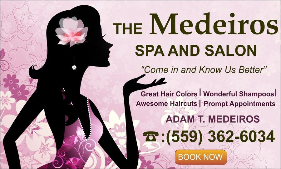 #150 for Design a Banner for a Salon and Spa by mansiartist1