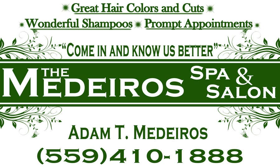 #160 for Design a Banner for a Salon and Spa by akritidas21