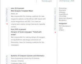 #1 for Designing a template for resume (curriculum) af VaghinakN