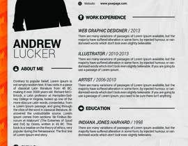 nº 15 pour Designing a template for resume (curriculum) par fo2shawy001