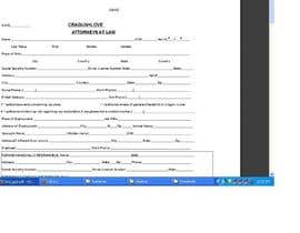 sanket1800 tarafından Fillable form to be made in Word and PDF document. için no 1