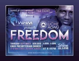 Nro 35 kilpailuun Freedom Concert Flyer - September 2016 käyttäjältä Mandody365