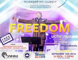 Nro 60 kilpailuun Freedom Concert Flyer - September 2016 käyttäjältä rajibdebnath900