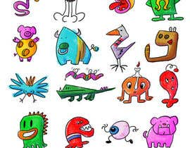 #33 untuk Create monster drawings for mobile game oleh BlueMonkeyStudio