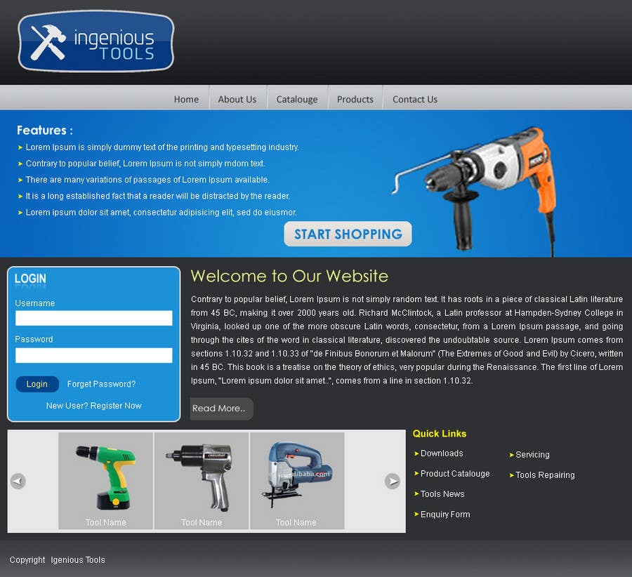 Participación en el concurso Nro.32 para Website Design for Ingenious Tools