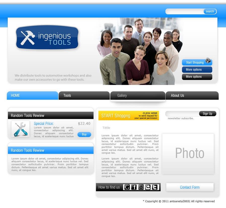 Penyertaan Peraduan #                                        9                                      untuk                                         Website Design for Ingenious Tools