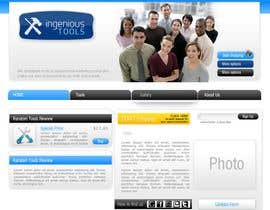 #9 para Website Design for Ingenious Tools por antoaneta2003