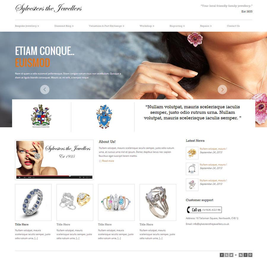 #25 for Website design for a jewellers - Please read the brief. by zicmedia