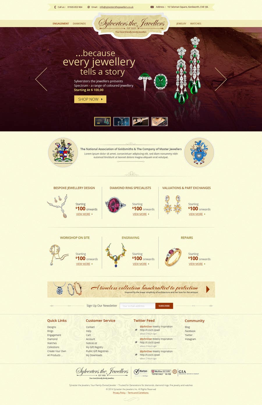 #33 for Website design for a jewellers - Please read the brief. by alpyraj81