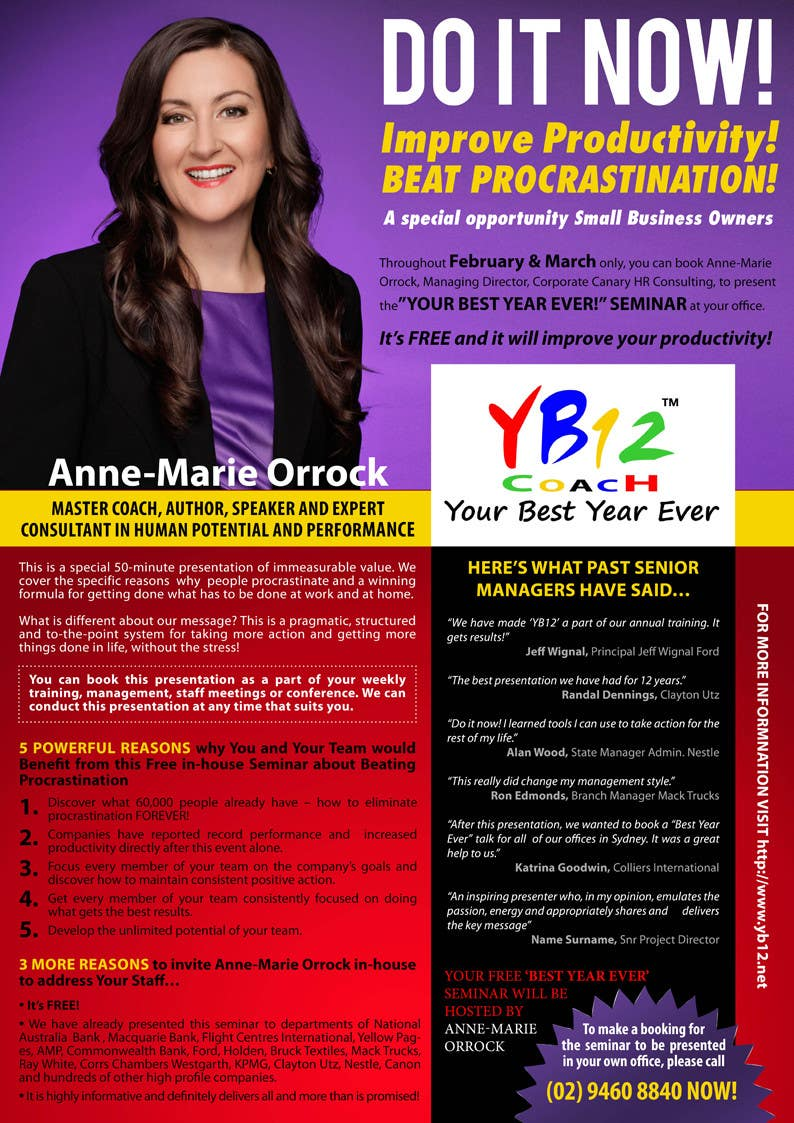 Proposition n°12 du concours Flyer Design for YB12