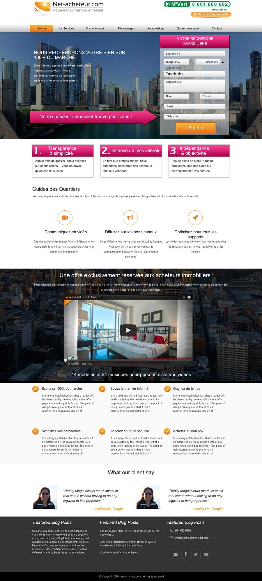 #1 for Real Estate Service - NEW Landing Pages by webidea12