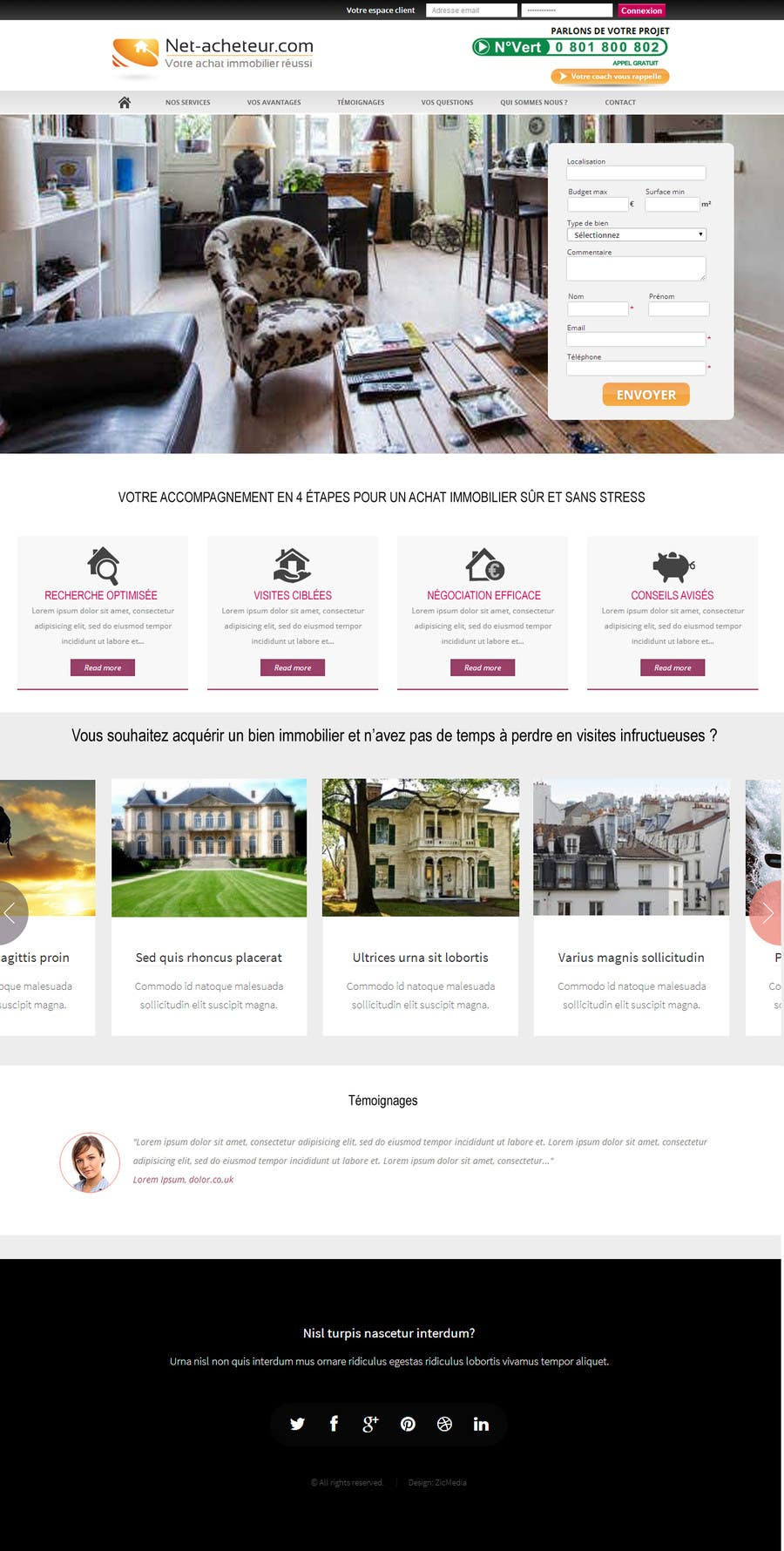 #3 for Real Estate Service - NEW Landing Pages by zicmedia