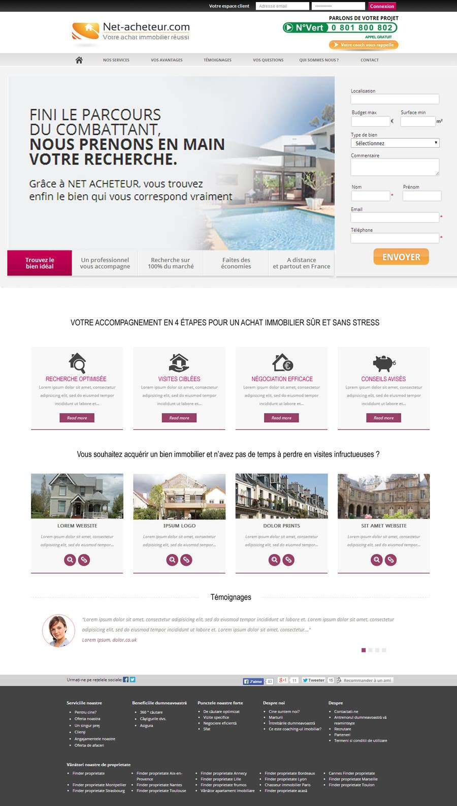 #4 for Real Estate Service - NEW Landing Pages by zicmedia