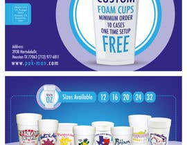 Nro 9 kilpailuun Custom Foam Cups Flyer käyttäjältä amrelassalart