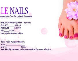#8 untuk 设计名片 for professional nail care shop oleh zbakovic