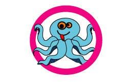 Kilpailutyö #213 kilpailussa Design a Logo of a cartoon octopus