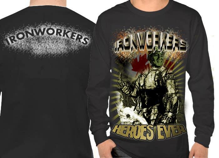 Penyertaan Peraduan #11 untuk Design a T-Shirt for ironworkers members