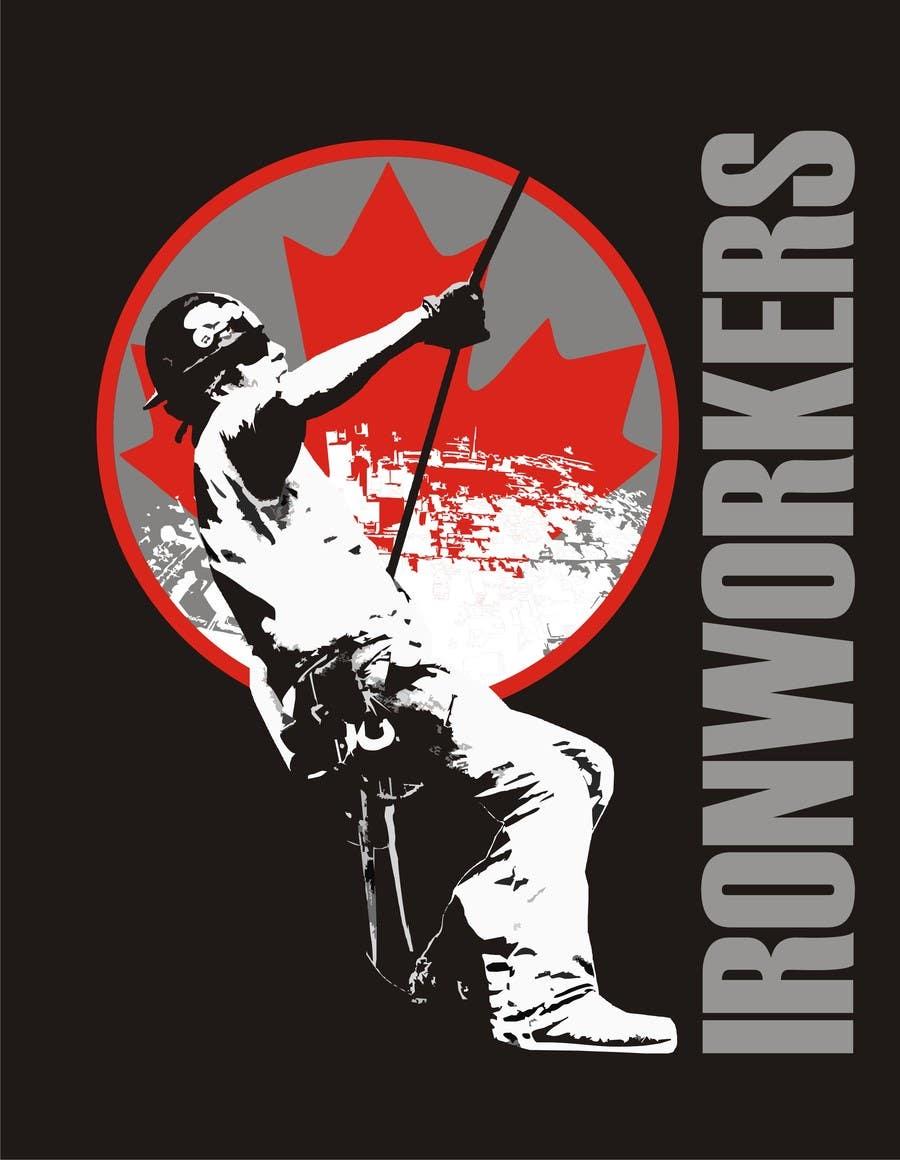 Penyertaan Peraduan #7 untuk Design a T-Shirt for ironworkers members