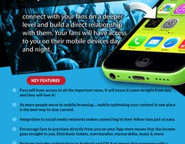 #8 untuk Fact sheet/flyer for a Fan Smartphone App oleh wedesignvw