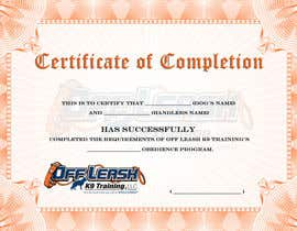 #50 para Design a Certificate of Completion For Dog Training Business por xahe36vw