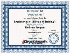#76 untuk Design a Certificate of Completion For Dog Training Business oleh Godlikecreative