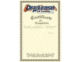 #59 untuk Design a Certificate of Completion For Dog Training Business oleh webdesigne22