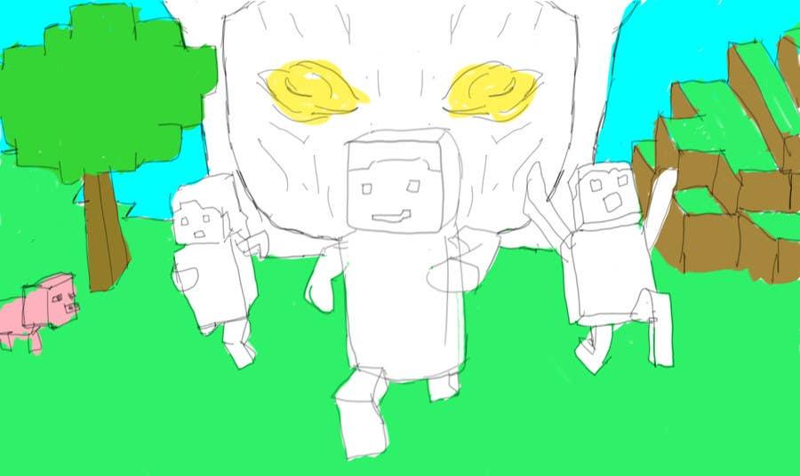 Penyertaan Peraduan #                                        1                                      untuk                                         Minecraft Book Cover