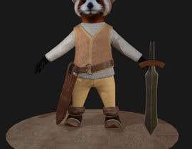 Nro 16 kilpailuun 3D character modeling, cute animal warrior character käyttäjältä CineMay