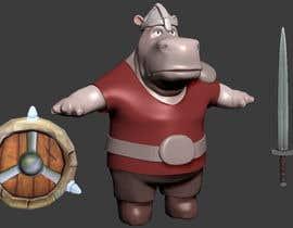 Nro 15 kilpailuun 3D character modeling, cute animal warrior character käyttäjältä micahalver90