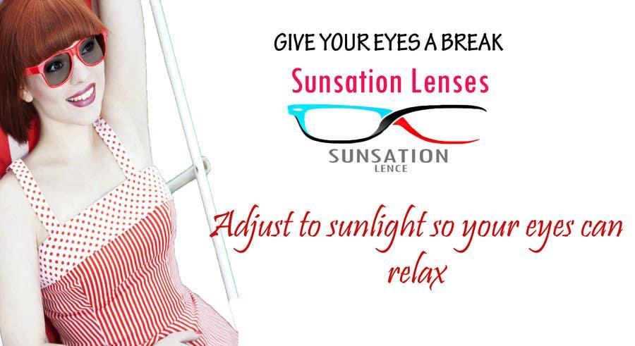 Inscrição nº 10 do Concurso para Design an Advertisement for Sunsation Lenses