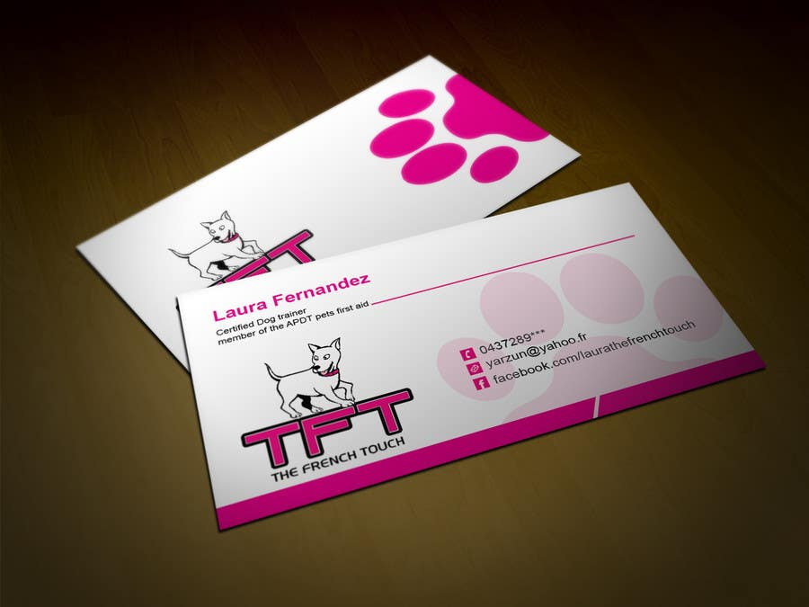Entry #110 by tahira11 for Design some Business Cards for a dog ...
